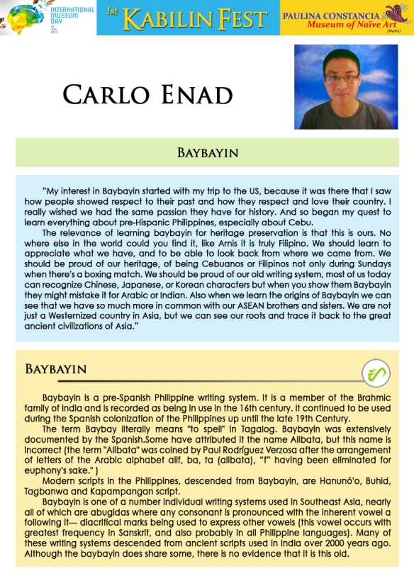 Workshop Facilitator 8- Carlo Enad