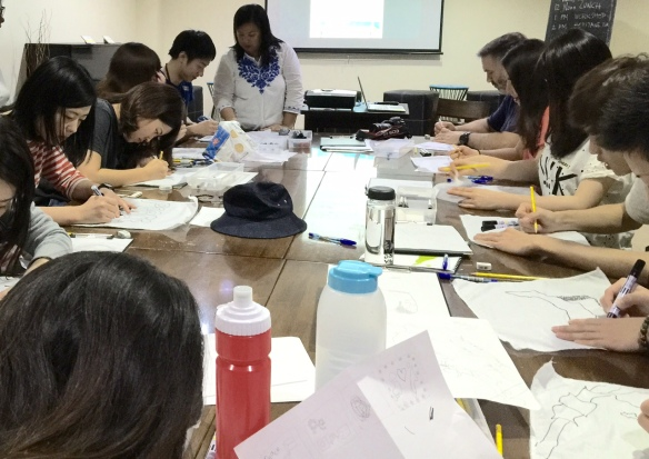 kindai students with panyong puti