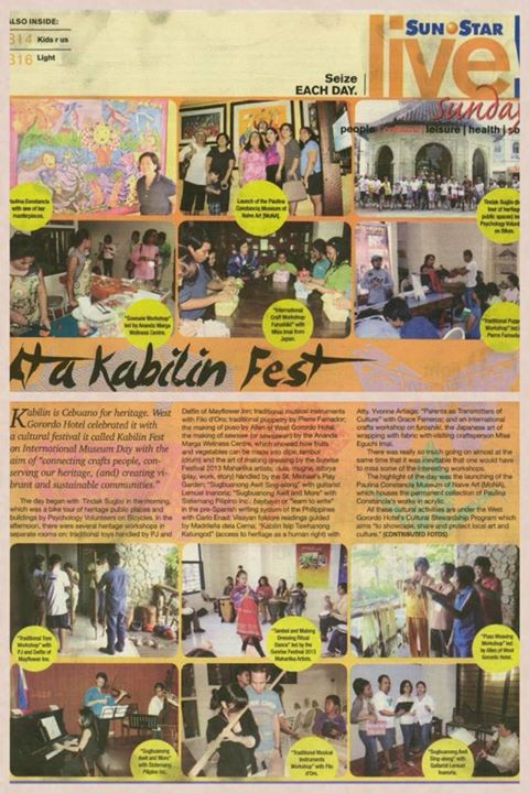 Sunstar newspaper kabilin fest coverage