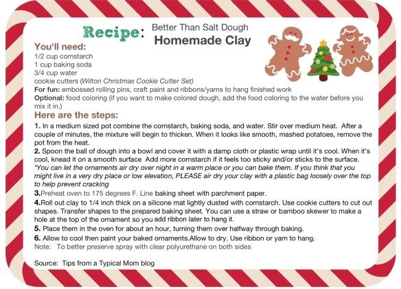 Homemade Clay recipe