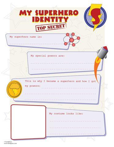 superhero identity